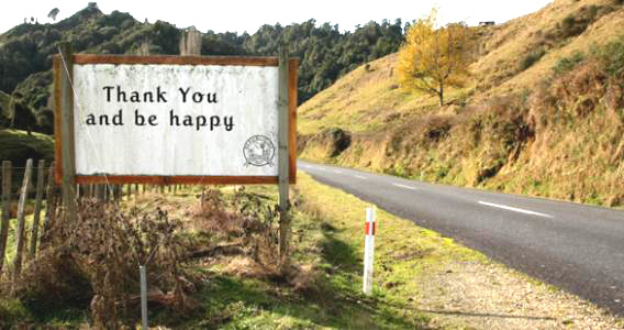 thank you and be happy