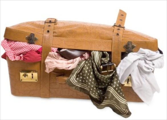 Overweight suitcase
