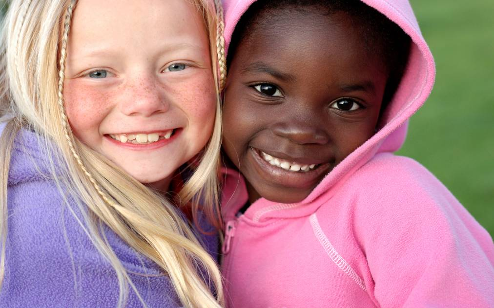 Black White People Together One Black Girl // Many...