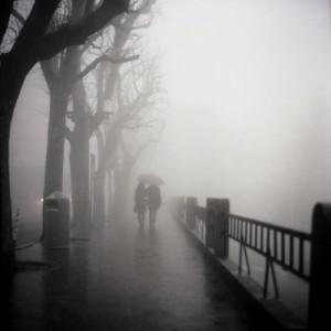 couple in fog