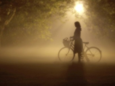 bicycle,forest,silhouette,woman,mist,bike-c259e92fb50069d5c53797007c2a985f_h_large