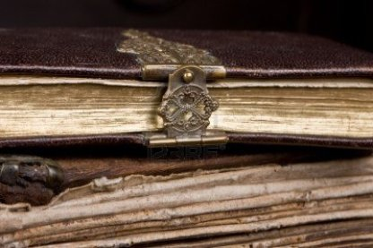 5397366-very-old-diary-with-a-bronze-lock-on-it