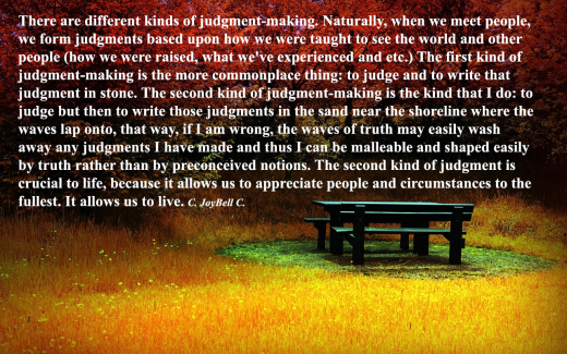 two kinds of judgment C Joybell C