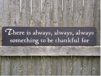 something to be thankful for